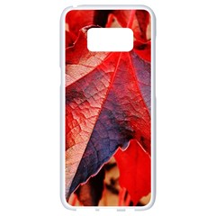 Wine Partner Wild Vine Leaves Plant Samsung Galaxy S8 White Seamless Case by Sapixe