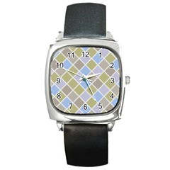 Background Paper Texture Motive Square Metal Watch