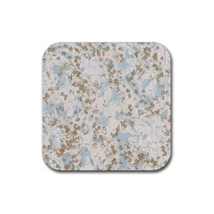 Background Texture Motive Paper Rubber Coaster (square)