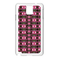 Butterflies In A Wonderful Forest Of Climbing Flowers Samsung Galaxy Note 3 N9005 Case (white) by pepitasart