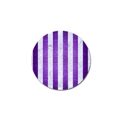Stripes1 White Marble & Purple Brushed Metal Golf Ball Marker (10 Pack) by trendistuff