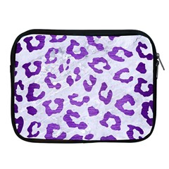 Skin5 White Marble & Purple Brushed Metal Apple Ipad 2/3/4 Zipper Cases by trendistuff