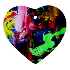 Global Warming 3 Heart Ornament (two Sides) by bestdesignintheworld