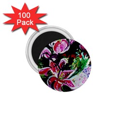 Lilac And Lillies 3 1 75  Magnets (100 Pack)  by bestdesignintheworld