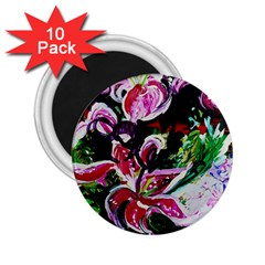 Lilac And Lillies 3 2 25  Magnets (10 Pack)  by bestdesignintheworld