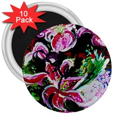 Lilac And Lillies 3 3  Magnets (10 Pack)  by bestdesignintheworld