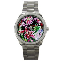 Lilac And Lillies 3 Sport Metal Watch by bestdesignintheworld