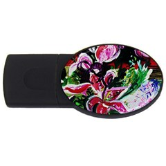 Lilac And Lillies 3 Usb Flash Drive Oval (4 Gb) by bestdesignintheworld