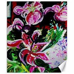 Lilac And Lillies 3 Canvas 8  X 10  by bestdesignintheworld