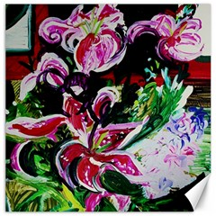 Lilac And Lillies 3 Canvas 16  X 16   by bestdesignintheworld