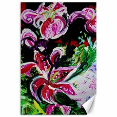 Lilac And Lillies 3 Canvas 24  X 36  by bestdesignintheworld