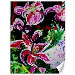 Lilac And Lillies 3 Canvas 36  X 48   by bestdesignintheworld