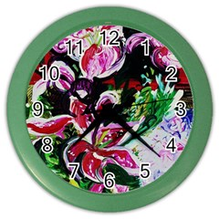 Lilac And Lillies 3 Color Wall Clocks by bestdesignintheworld