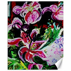 Lilac And Lillies 3 Canvas 11  X 14   by bestdesignintheworld