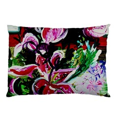 Lilac And Lillies 3 Pillow Case by bestdesignintheworld