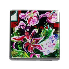 Lilac And Lillies 3 Memory Card Reader (square) by bestdesignintheworld