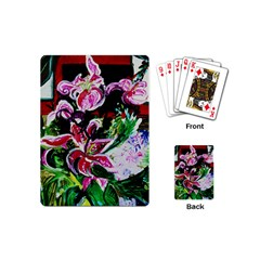 Lilac And Lillies 3 Playing Cards (mini)  by bestdesignintheworld