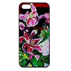 Lilac And Lillies 3 Apple Iphone 5 Seamless Case (black) by bestdesignintheworld