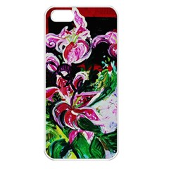 Lilac And Lillies 3 Apple Iphone 5 Seamless Case (white) by bestdesignintheworld