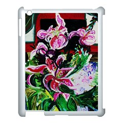 Lilac And Lillies 3 Apple Ipad 3/4 Case (white) by bestdesignintheworld