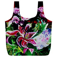 Lilac And Lillies 3 Full Print Recycle Bags (l)  by bestdesignintheworld