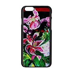 Lilac And Lillies 3 Apple Iphone 6/6s Black Enamel Case by bestdesignintheworld