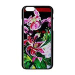 Lilac And Lillies 3 Apple iPhone 6/6S Black Enamel Case Front