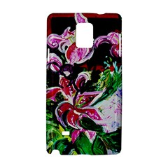 Lilac And Lillies 3 Samsung Galaxy Note 4 Hardshell Case by bestdesignintheworld