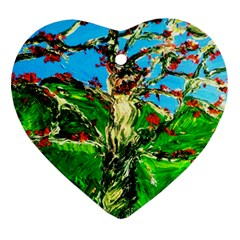 Coral Tree 2 Ornament (heart) by bestdesignintheworld