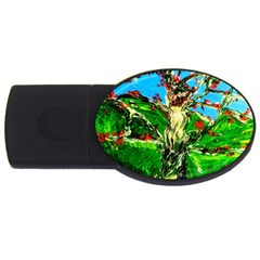 Coral Tree 2 Usb Flash Drive Oval (2 Gb) by bestdesignintheworld