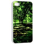 Hot Day In Dallas 26 Apple iPhone 4/4s Seamless Case (White) Front
