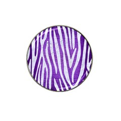 Skin4 White Marble & Purple Brushed Metal (r) Hat Clip Ball Marker (10 Pack) by trendistuff