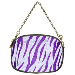 Skin3 White Marble & Purple Brushed Metal (r) Chain Purses (one Side)  by trendistuff