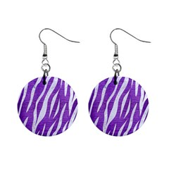 Skin3 White Marble & Purple Brushed Metal Mini Button Earrings by trendistuff