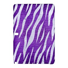 Skin3 White Marble & Purple Brushed Metal Samsung Galaxy Tab Pro 12 2 Hardshell Case by trendistuff
