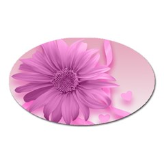 Flower Design Romantic Oval Magnet