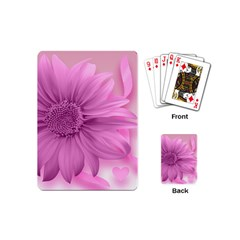 Flower Design Romantic Playing Cards (mini)  by Sapixe
