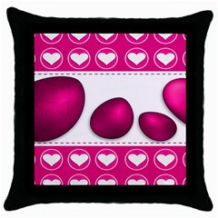 Love Celebration Easter Hearts Throw Pillow Case (black) by Sapixe