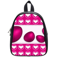 Love Celebration Easter Hearts School Bag (small) by Sapixe