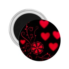 Background Hearts Ornament Romantic 2 25  Magnets