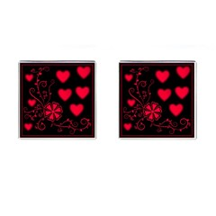Background Hearts Ornament Romantic Cufflinks (square) by Sapixe