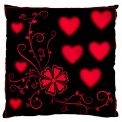 Background Hearts Ornament Romantic Large Flano Cushion Case (one Side) by Sapixe