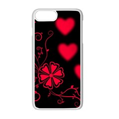 Background Hearts Ornament Romantic Apple Iphone 7 Plus Seamless Case (white)