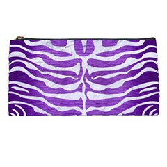 Skin2 White Marble & Purple Brushed Metal Pencil Cases by trendistuff