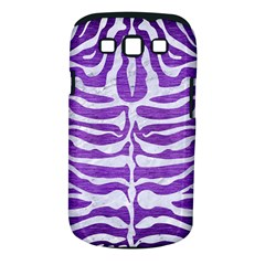 Skin2 White Marble & Purple Brushed Metal Samsung Galaxy S Iii Classic Hardshell Case (pc+silicone) by trendistuff