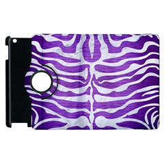 Skin2 White Marble & Purple Brushed Metal Apple Ipad 2 Flip 360 Case by trendistuff