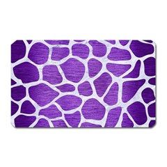 Skin1 White Marble & Purple Brushed Metal (r) Magnet (rectangular) by trendistuff
