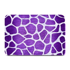Skin1 White Marble & Purple Brushed Metal (r) Plate Mats by trendistuff