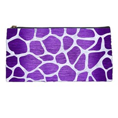 Skin1 White Marble & Purple Brushed Metal (r) Pencil Cases by trendistuff