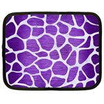 SKIN1 WHITE MARBLE & PURPLE BRUSHED METAL (R) Netbook Case (XXL)  Front